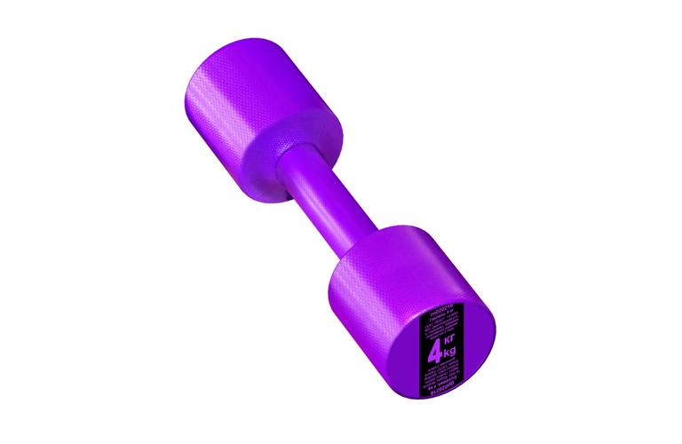 Гантель с пластиковым покрытием Streda Home 4 кг (1 шт) Purple