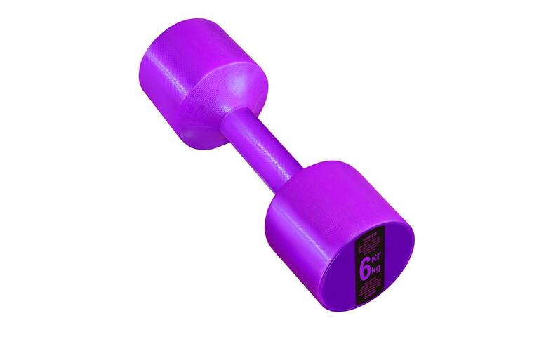 Гантель с пластиковым покрытием Streda Home 6 кг (1 шт) Purple