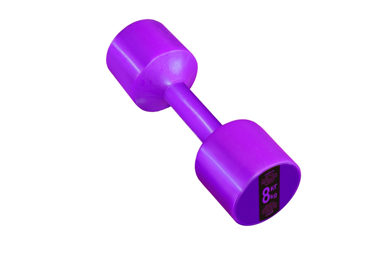 Гантель с пластиковым покрытием Streda Home 8 кг (1 шт) Purple