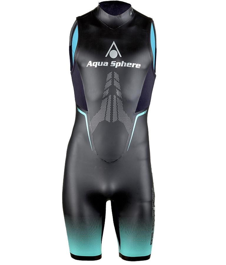 Гидрокостюм для открытой воды и фридайвинга мужской Aqua Sphere AquaSkin Short 2.0 (короткий), 1 мм