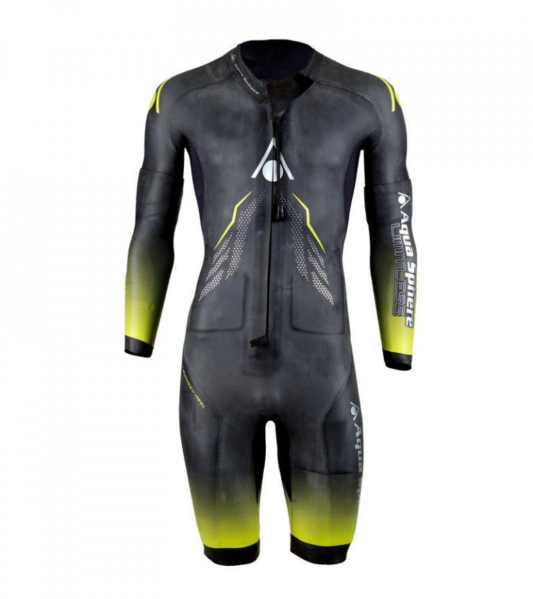 Гидрокостюм для свимрана мужской со съемными рукавами (свимскин) Aqua Sphere Swim&Run Wetsuit, 3.5/3/2/1.5 мм