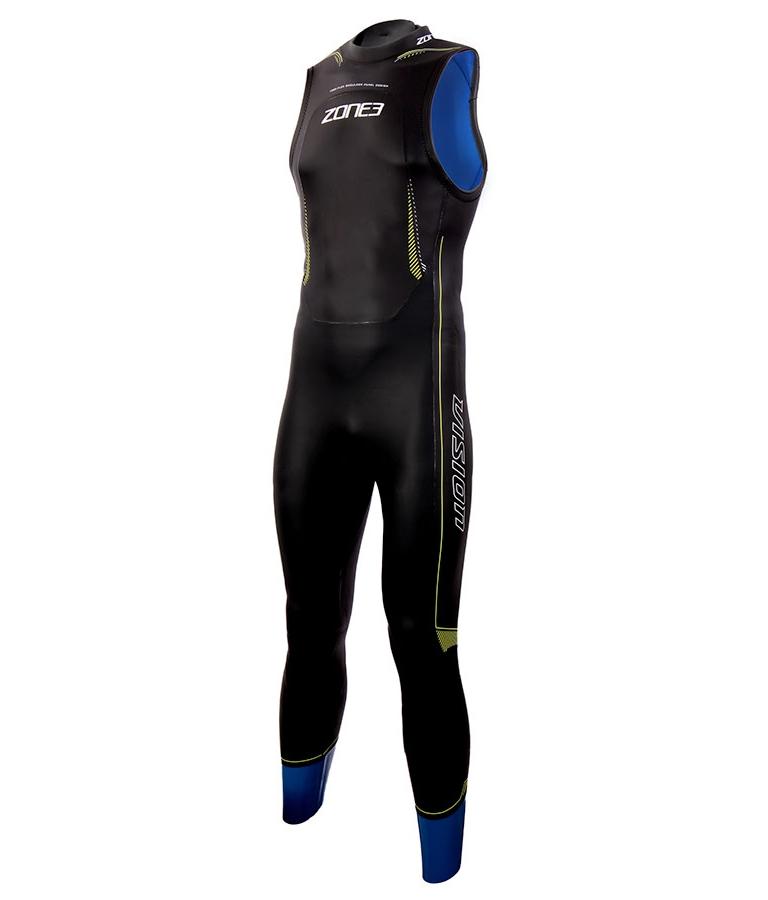 Гидрокостюм для триатлона без рукавов мужской ZONE3 Sleeveless Vision Wetsuit