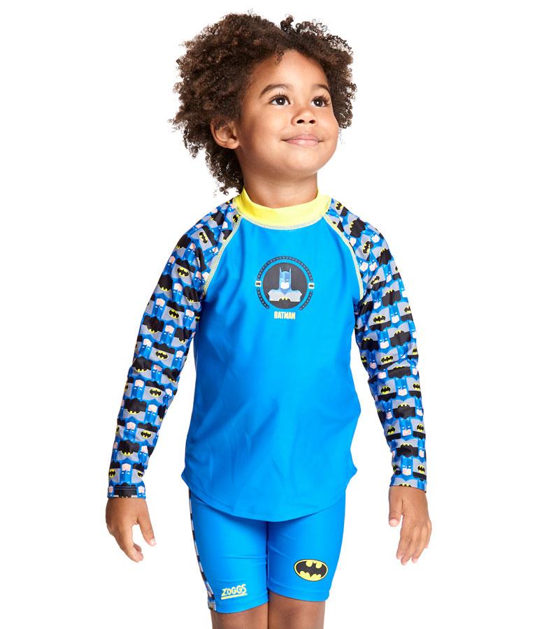 Гидромайка для плавания детская с длинным рукавом ZOGGS Batman Long Sleeve Sun Top