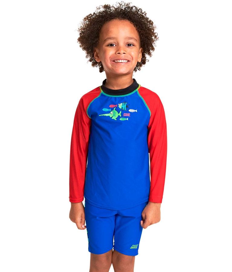 Гидромайка для плавания детская с длинным рукавом ZOGGS Sea Saw Sun Top Kids