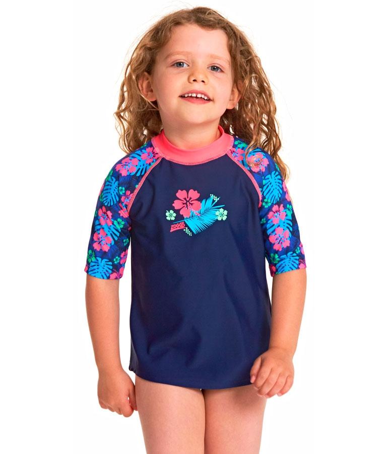 Гидромайка для плавания детская с рукавами 3/4 ZOGGS Kona Sun Top Kids