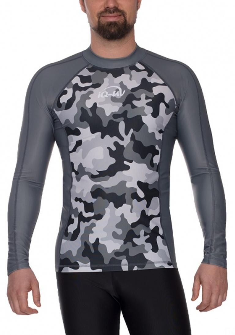 Гидромайка для плавания мужская с длинным рукавами  iQ UV 300+ Gray