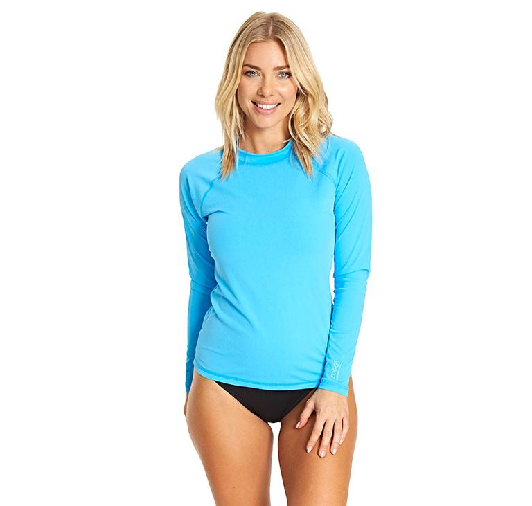 Гидромайка для плавания женская с длинным рукавом ZOGGS Sunshine Long Sleeve Sun Top