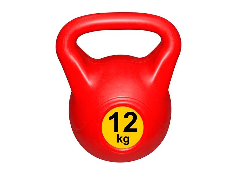 Гиря с пластиковым покрытием Streda Home 12 кг (1 шт) Red