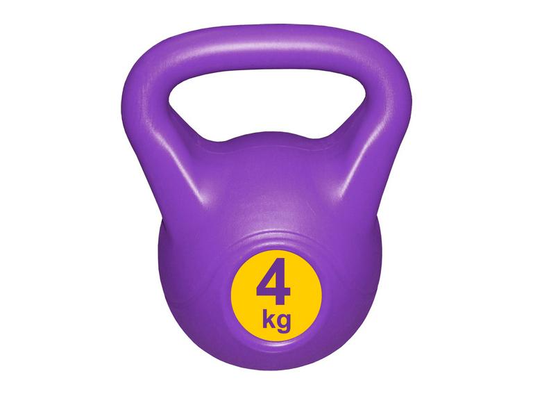 Гиря с пластиковым покрытием Streda Home 4 кг (1 шт) Purple