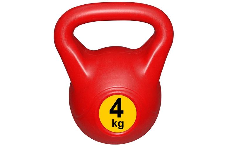 Гиря с пластиковым покрытием Streda Home 4 кг (1 шт) Red