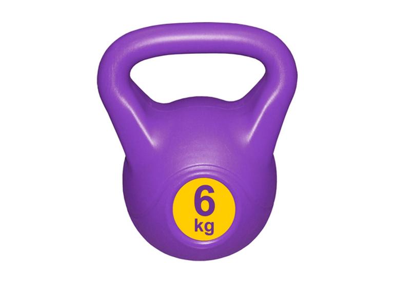 Гиря с пластиковым покрытием Streda Home 6 кг (1 шт) Purple