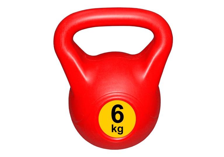 Гиря с пластиковым покрытием Streda Home 6 кг (1 шт) Red