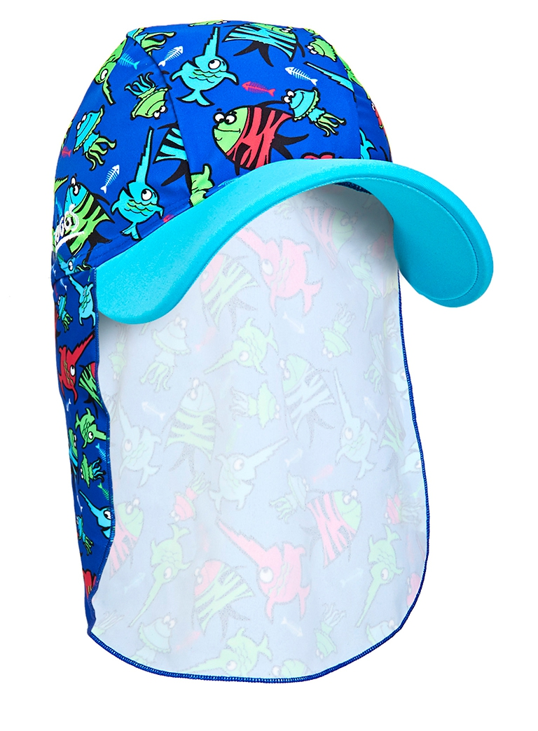 Кепка детская с защитой для шеи ZOGGS Sea Saw Sun Hat (1-6 лет)