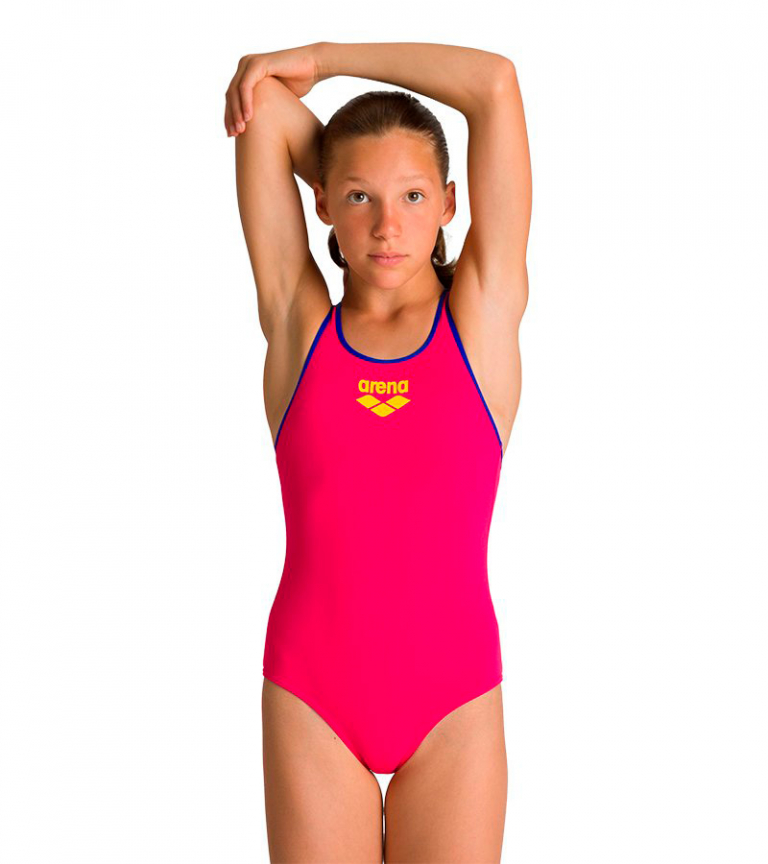 Купальник слитный детский Arena Biglogo Jr Swim Pro Back