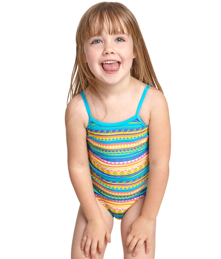 Купальник слитный детский ZOGGS Girls Rainbow Sahara Yaroomba Florala