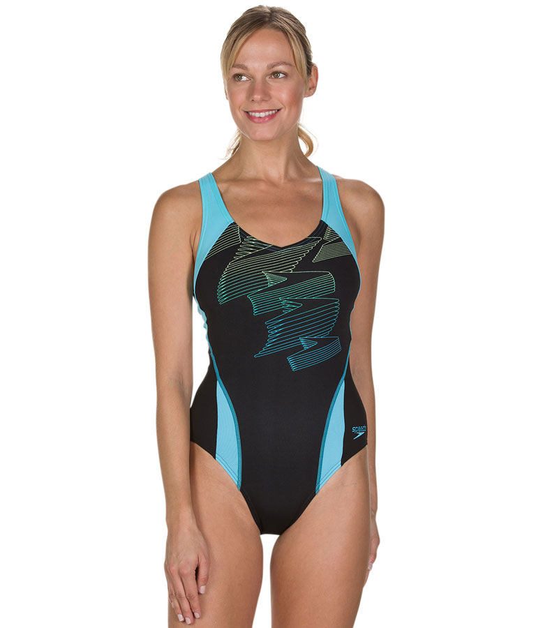Купальник слитный Speedo Boom Placement Racerback Blue