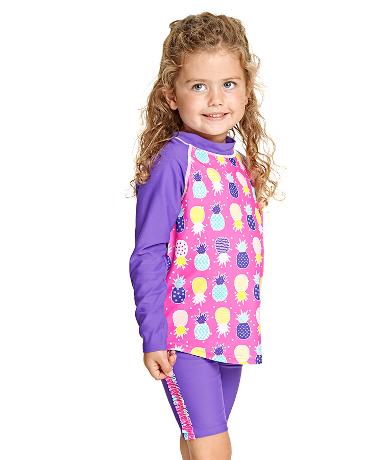 Купальный костюм раздельный детский ZOGGS Pine Crush Sun Protection Set