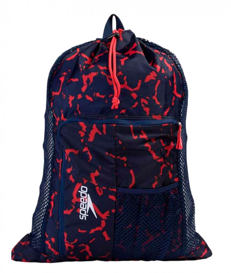 Мешок для аксессуаров Speedo Deluxe Ventilator Mesh Bag Blue/Red - D879 (33 л)