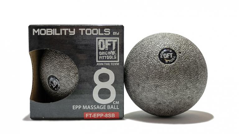 Мяч (шар) массажный одинарный OFT 8 см серый
