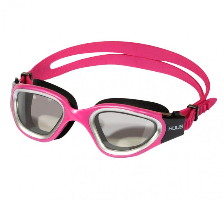 """Очки для плавания HUUB с линзами """"хамелеон"""" Aphotic Pink"""