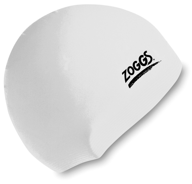 Шапочка для плавания  ZOGGS Silicone Cap White
