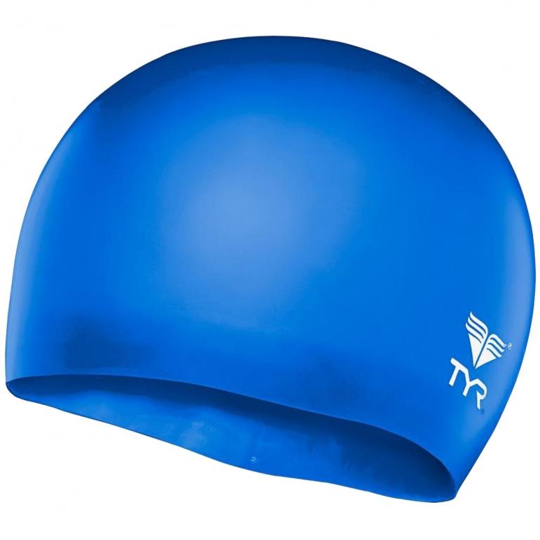 Шапочка для плавания детская TYR Wrinkle Free Junior Silicone Cap  (6-12 лет)