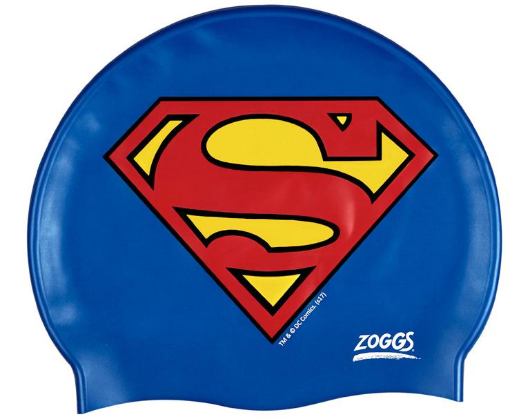 Шапочка для плавания детская ZOGGS Superman Silicone Cap (6-14 лет)