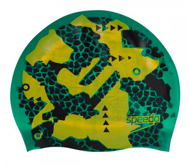 Шапочка для плавания двусторонняя Speedo Reversible Сap Green - D682