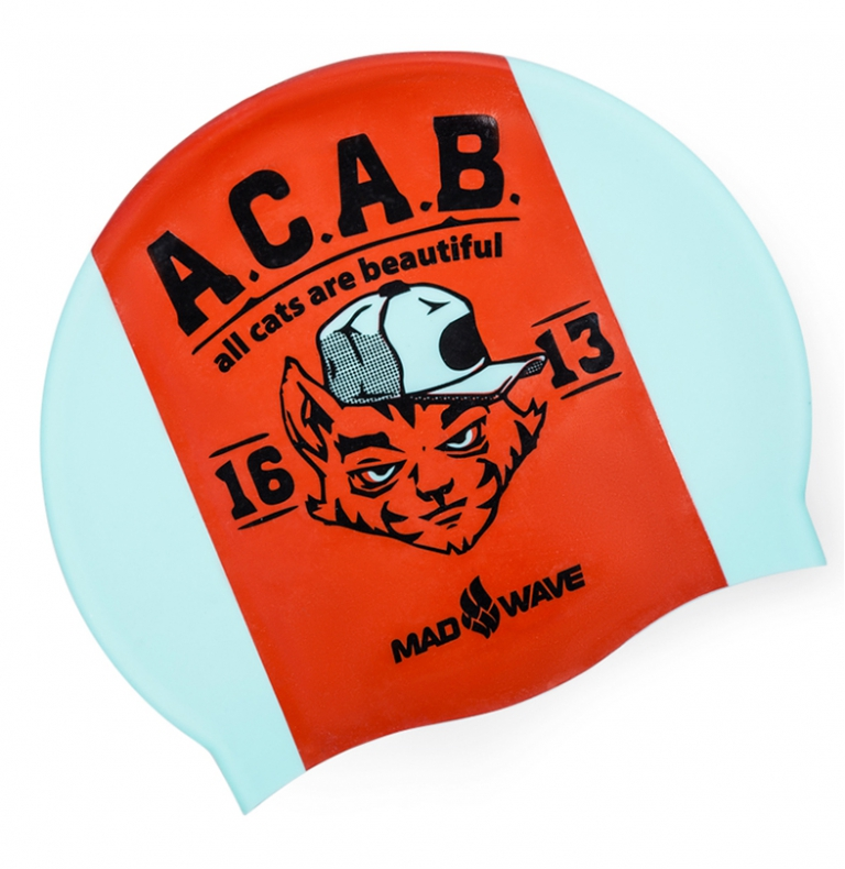 Шапочка для плавания MadWave A.C.A.B.