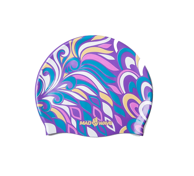Шапочка для плавания MadWave Silicone Rainbow