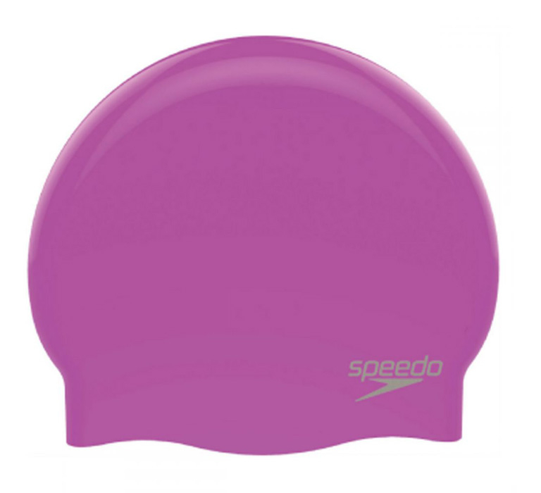 Шапочка для плавания Speedo Plain Moulded Silicone Cap Blue