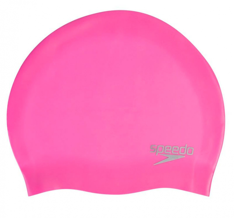 Шапочка для плавания Speedo Plain Moulded Silicone Cap Pink - 5641