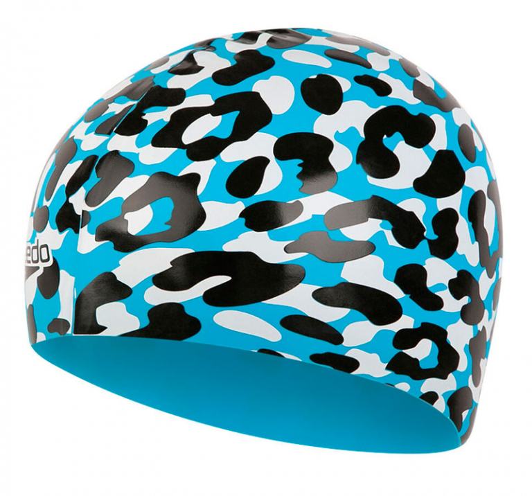 Шапочка для плавания Speedo Slogan Print Cap Leopard - C898