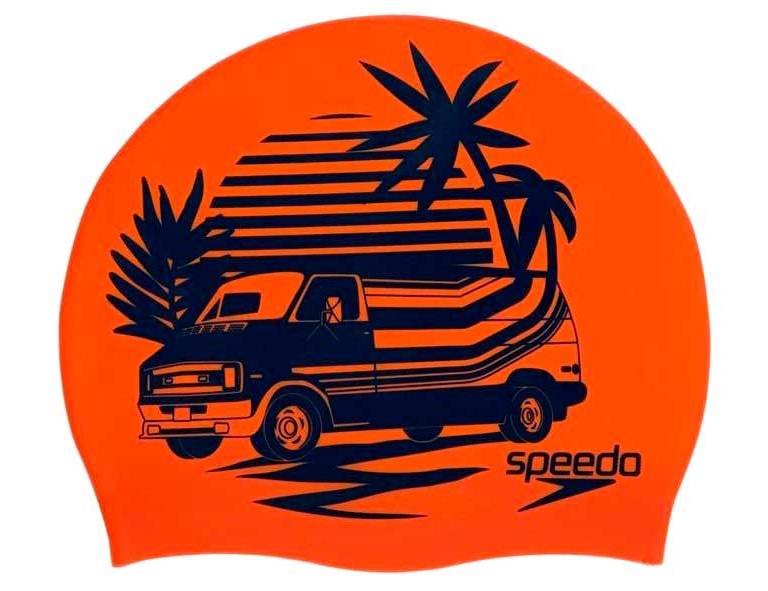 Шапочка для плавания Speedo Slogan Print Cap Orange