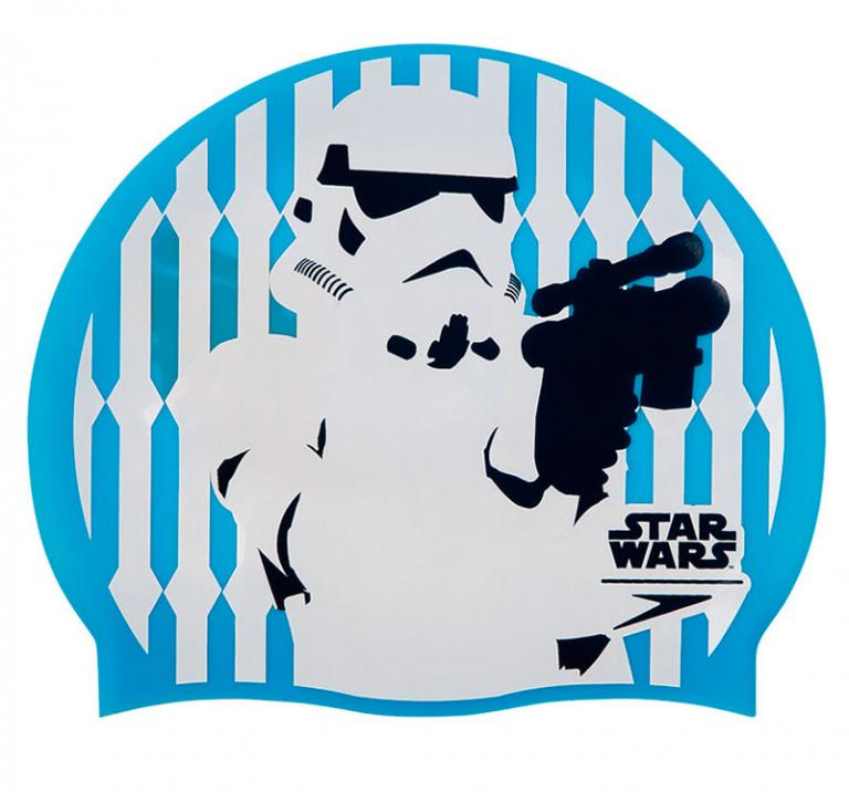 Шапочка для плавания Speedo Star Wars Print Cap Stormtrooper