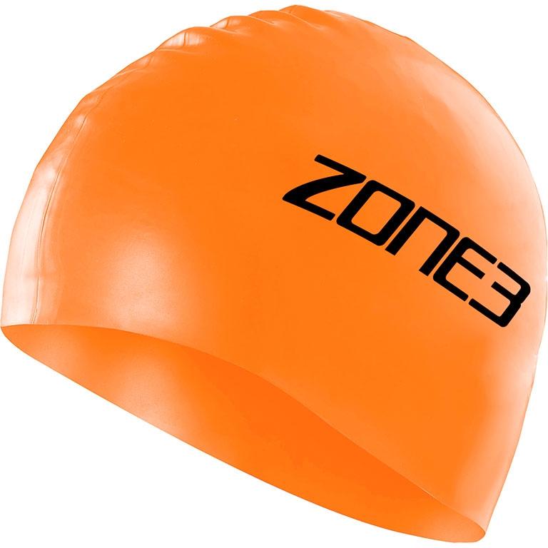Шапочка для плавания ZONE3 Silicone Swim Cap Hi Vis Orange