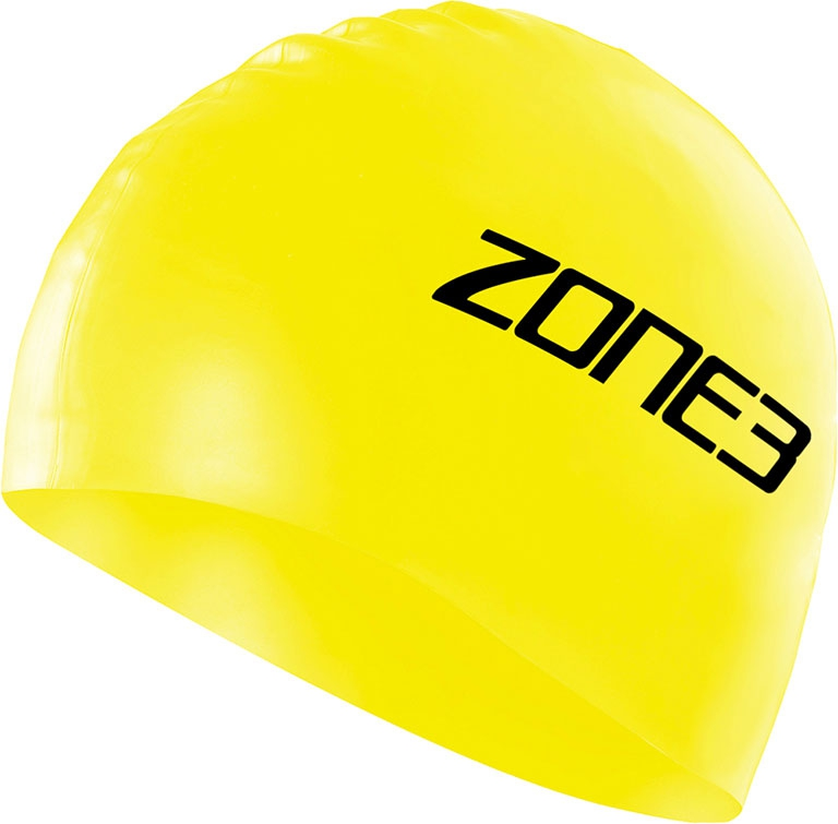 Шапочка для плавания ZONE3 Silicone Swim Cap Hi Vis Yellow