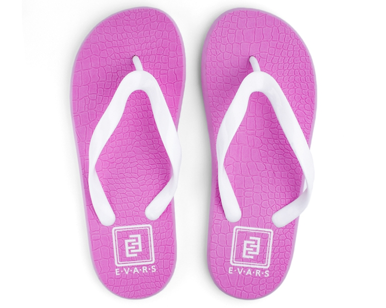 Сланцы женские Evars Simple Snake Skin Logo Pink