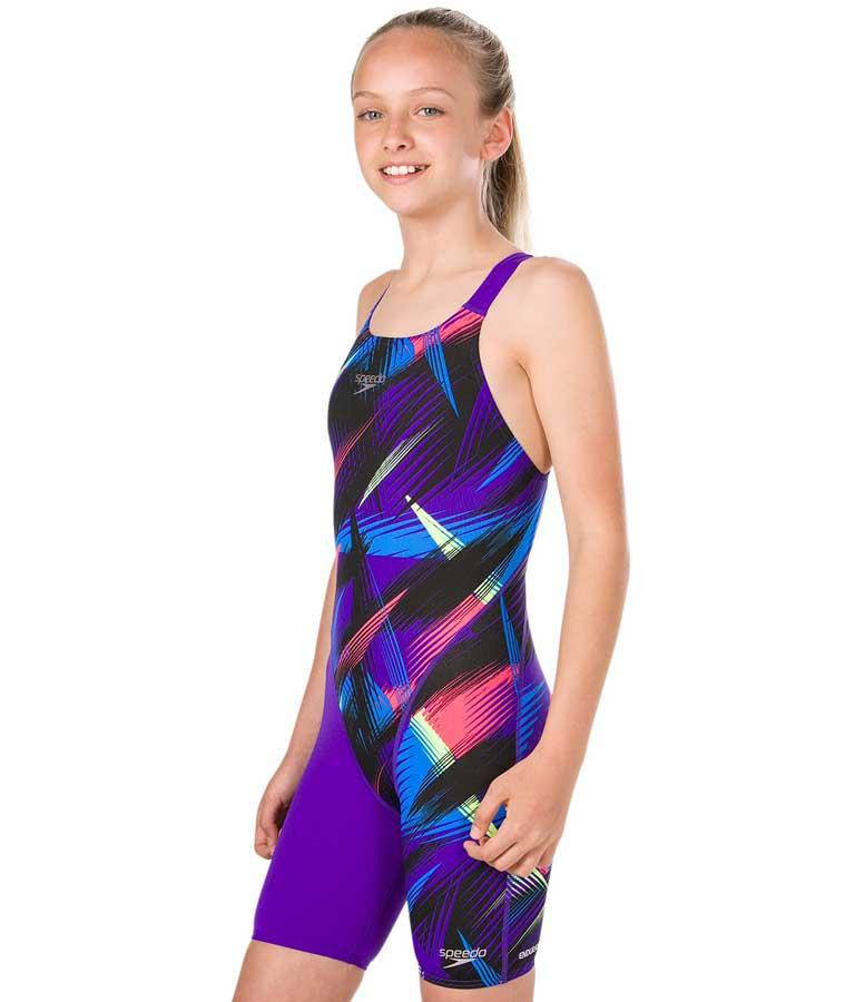 Speedo Junior Girls/' Swimsuit Fastskin Junior Endurance Openback Kneeskin