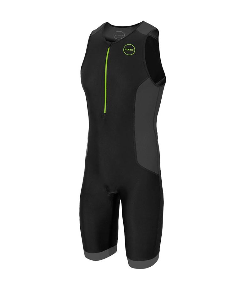 Стартовый костюм без рукавов для триатлона мужской (трисьют) ZONE3 Aquaflo Plus Trisuit