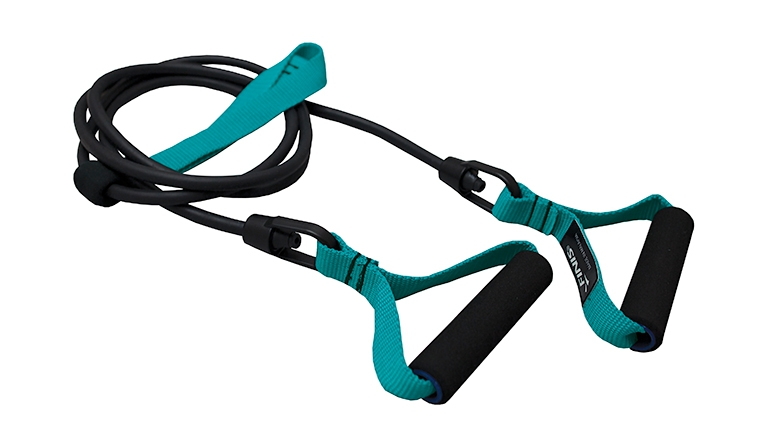 Тренажер для тренировки гребка с ручками Finis Dryland Cords Green (средняя степень нагрузки)