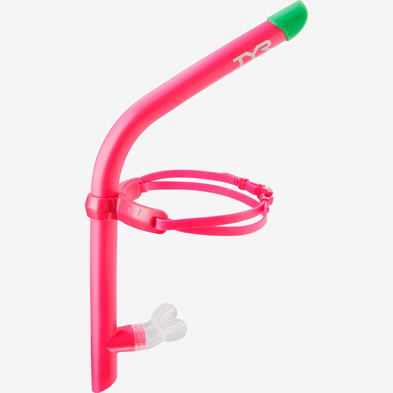 Трубка для плавания TYR Pink Ultralite Snorkel 2.0