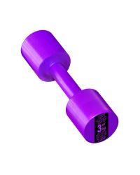 Гантель с пластиковым покрытием Streda Home 3 кг (1 шт) Purple