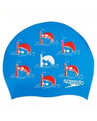 Шапочка для плавания детская Speedo Slogan Cap Junior AW18 (6-12 лет)