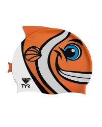Шапочка для плавания детская TYR Characs Happy Fish Cap