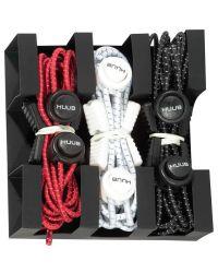 Шнурки для кроссовок для триатлона HUUB Lace Locks Red (комплект из 3 пар)